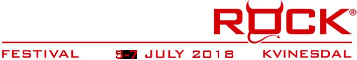 Norway Rock Festival   5-7 Juli 2018 Kvinesdal