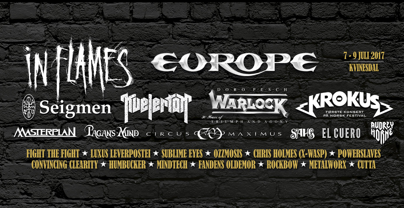 Norway Rock Festival Full Lineup